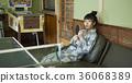 婦女在溫泉娛樂室 36068389