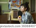 婦女在溫泉娛樂室 36068407
