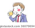 男人喝啤酒 36070694