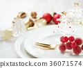 장식품, 크리스마스, 접시 36071574