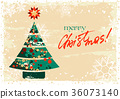 Merry Christmas greeting card 36073140
