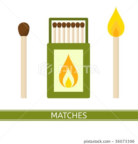 Matches Box Icon Vector 36073396