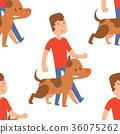 vector, illustration, dog 36075262