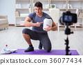 exercise, man, training 36077434