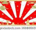 新年 背景 新春 36080669
