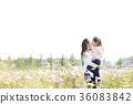 母親,女兒,公園 36083842