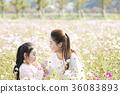母親,女兒,公園 36083893