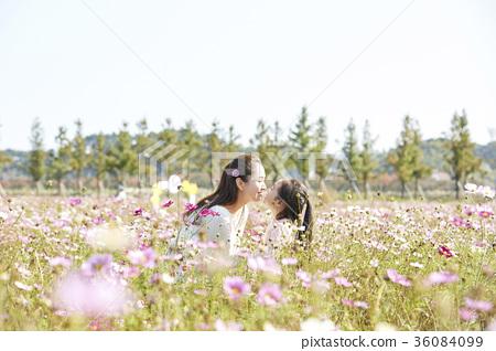 母親,女兒,公園 36084099