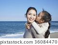 엄마,딸,여행,바다 36084470