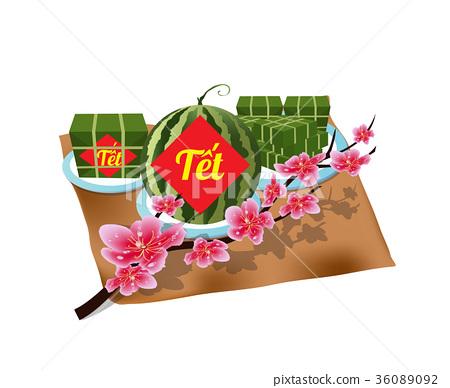 Vietnamese new year. Lurnar new year 36089092