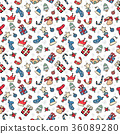 Christmas doodle collection, hand drawn new year 36089280