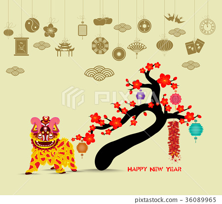 Oriental Chinese New Year 2018 blossom 36089965