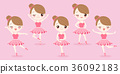 cartoon woman with ballet 36092183