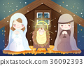 Christmas with baby Jesus 36092393