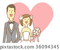 bridal couple, bride and groom, marriage 36094345
