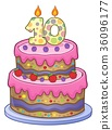 Birthday cake image for 10 years old 36096177
