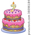 Birthday cake image for 7 years old 36096184