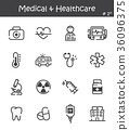 Medical and Healthcare line icon set 1 36096375