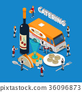 Catering Isometric Composition 36096873