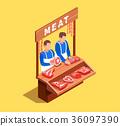 man, market, meat 36097390