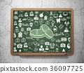 medicine, chalkboard, tablet 36097725