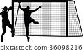 handball woman player 36098216