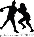 handball woman player 36098217