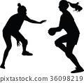 handball woman player 36098219