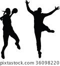 handball woman player 36098220