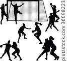 handball woman player 36098223