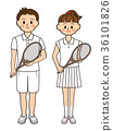網球 男人和女人 男女 36101826