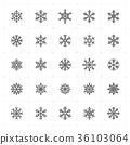 snowflake, vector, background 36103064