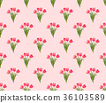 Pink Tulip on Pink Background 36103589