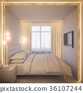 3d render of an interior design of a white 36107244