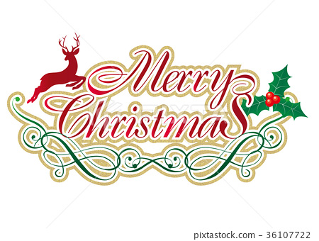 gold textured merry christmas logo logo mark stock illustration 36107722 pixta https www pixtastock com illustration 36107722