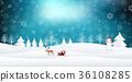 聖誕節雪冬天背景 36108285