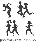vector, runner, run 36109127