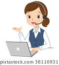 ผู้ประกอบการโทรศัพท์หญิงสาว 36110931