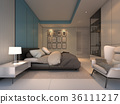 Luxury Cozy bedroom , 3d rendering 36111217