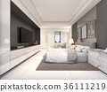 White Luxury Bedroom , 3d rendering 36111219