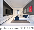 Modern luxury bedroom , 3d rendering 36111220