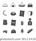 rice icons set vector 36111416