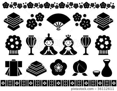Hinamatsuri廣告例證 36112611