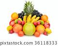 fruit set isolated on white background 36118333
