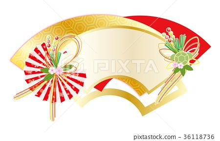 長壽慶典粉絲起重機海龜澆水新年卡材料 36118736