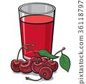 果汁 櫻桃 飲料 36118797