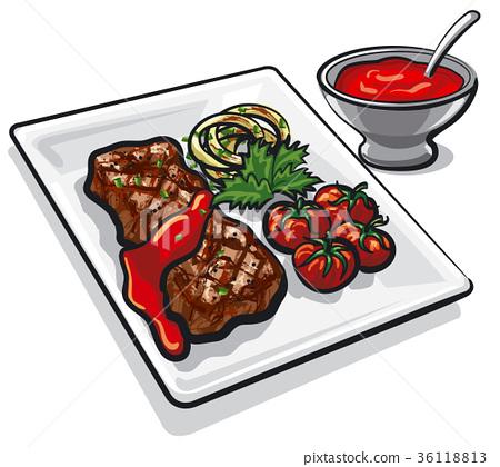 grilled beef steak 36118813