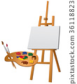 easel and palette 36118823