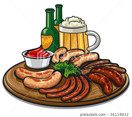 sausages and beer 36118832