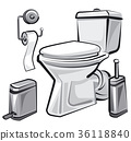 restroom wc with toilet 36118840